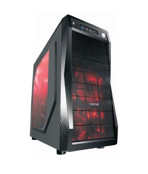 Gaming Cpu Cabinet by Circle Gaming Cabinet Cc 821 Without Smps Buy Circle