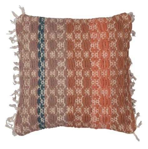 Handcrafted Cushions - handmade wool weave cushion cover 45cm x 45cm