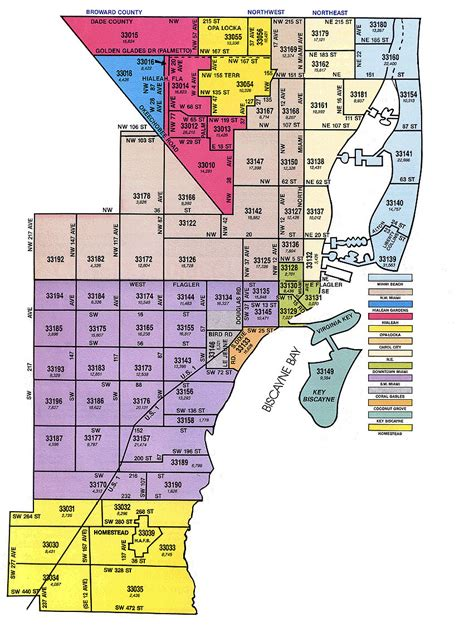 Records Miami Dade County Florida Zip Code Map Miami My