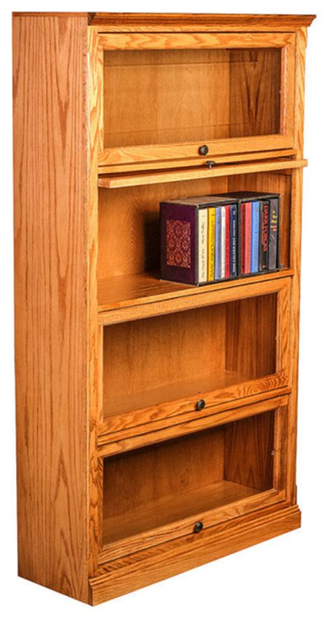 Traditional Oak Lawyers Bookcase Traditional Bookcases Traditional Bookshelves