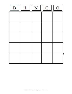bingo cards template pdf bingo template ezk12lessons