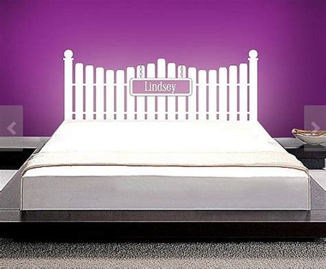 Wall Decal Headboards by Headboard Vinyl Wall Decal Size Wall