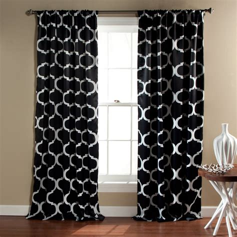 Black And White Lattice Curtains Black Trellis Curtains Sgwebg