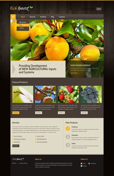 agriculture themes html agriculture wordpress theme 39281
