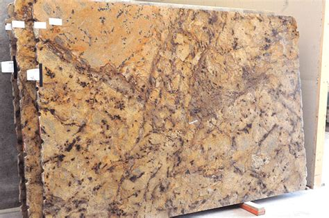 Stainless Steel Kitchen Backsplashes Lapidus Gold Granite Slabs For Your Countertop