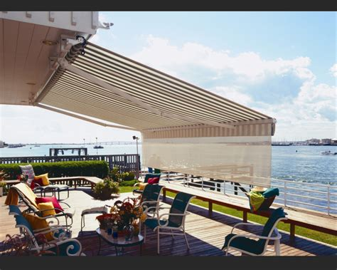 awning options retractable deck awnings rainier shade
