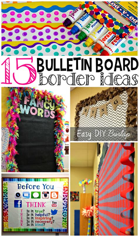 ideas for classroom creative bulletin board borders for the classroom crafty