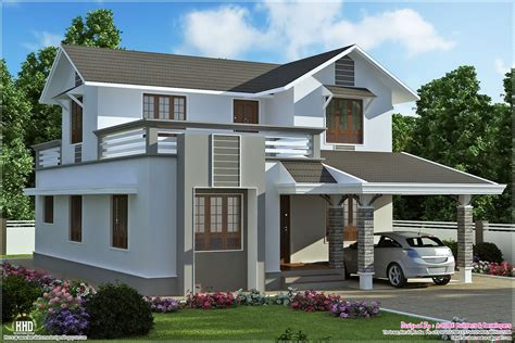 1900 sq 2 storey villa plan kerala home design and