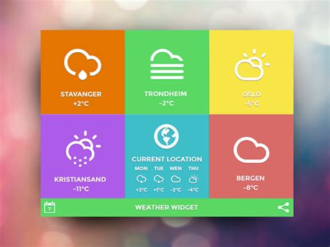 app design report weather tile app on behance