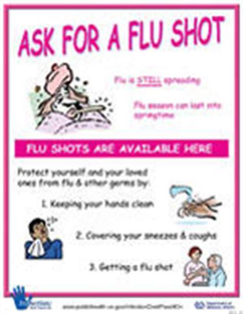 Influenza Posters Public Health Flu Announcement Template