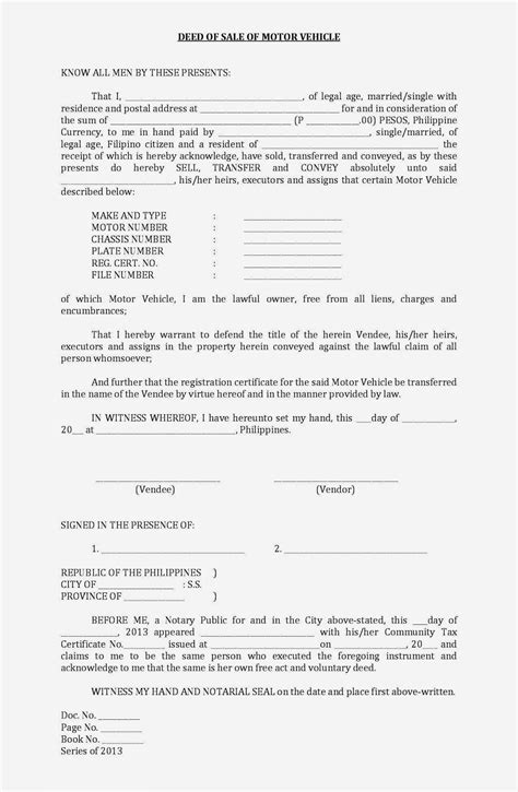free tennessee motor vehicle bill of sale form pdf eforms