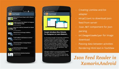 xamarin tutorial book json feed reader application in xamarin android stacktips