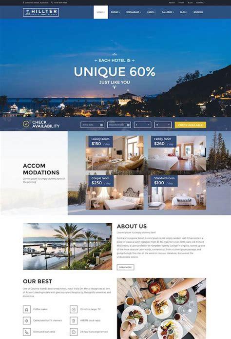 themes hotel wordpress 20 best wordpress themes for hotels 2017 wildemuse com