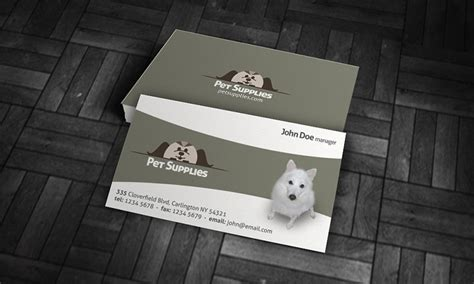 shop business card template pet shop business card template 187 free 187 pa00003