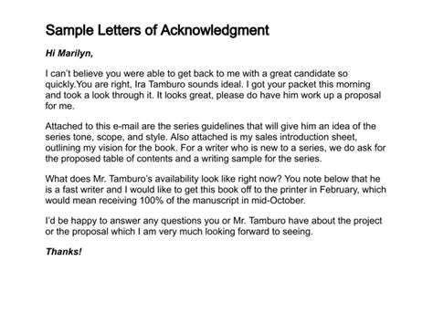 Acknowledgement Letter Draft How To Write A Letter Of Acknowledgment