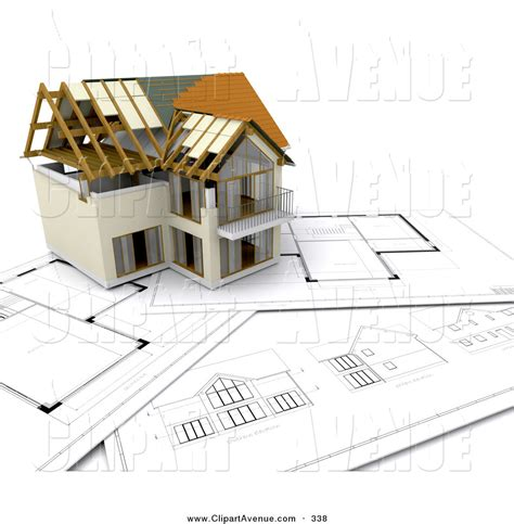 house layout clipart avenue clipart of a partially built two story house on top