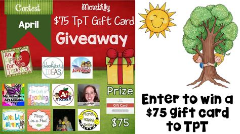 Tpt Gift Card - tpt gift card giveaway april edition