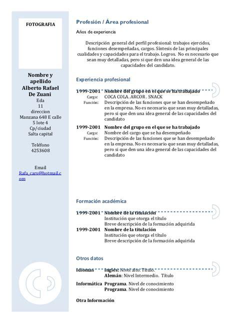 Evaluación De Un Modelo Curricular Por Competencias Curriculum Vitae Modelo3a Azul Copia