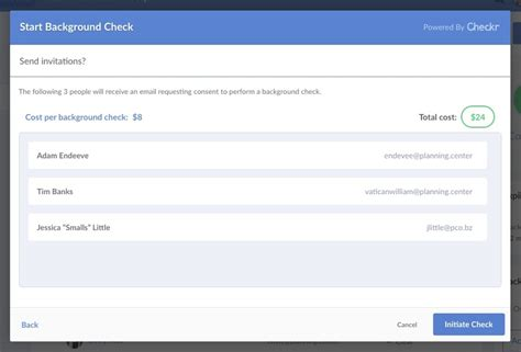 Cost To Run A Background Check Using Checkr For Background Checks Planning Center