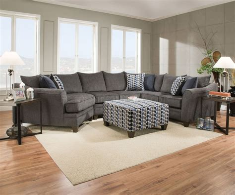 Albany Sectional Sofa Albany Sectional Sofa 53835 In Grey Fabric By Acme W Options