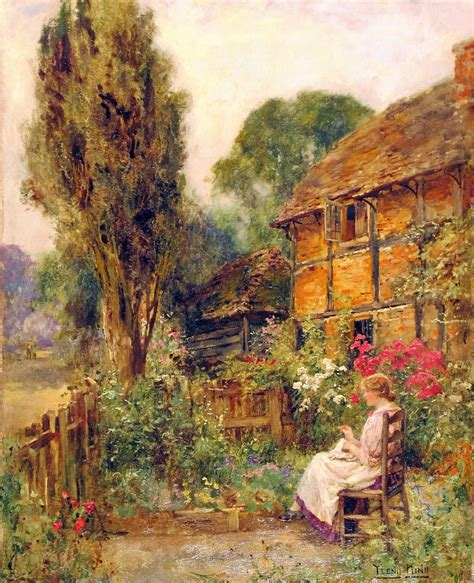 Cottage Garden Paintings by Painting Henry Yeend King