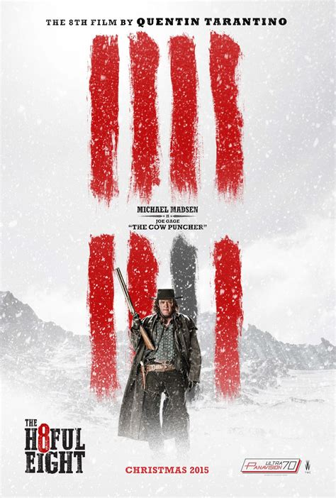 quentin tarantino film the hateful eight the hateful eight poster 7 michael madsen blackfilm com