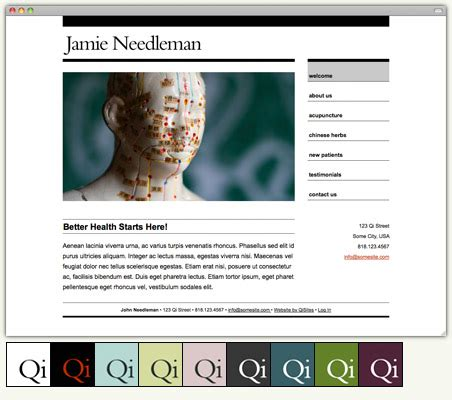 The Best Acupuncture Websites Are Simple Acupuncture Blog Qisites Acupuncture Website Template Free