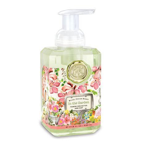michel design works luxury foaming hand bath body soap lotions uk in the garden foaming hand soap
