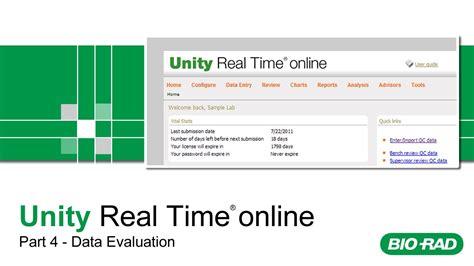 online tutorial unity bio rad unity real time online training part 4 data