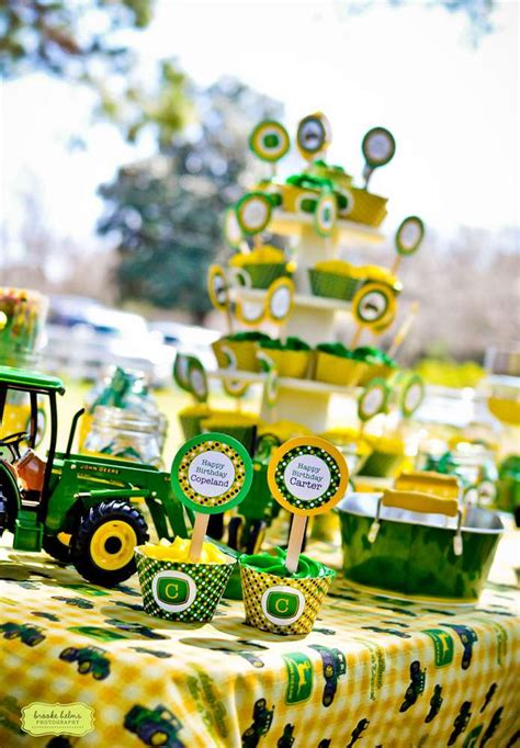 john deere themed birthday party john deere tractor birthday party ideas photo 4 of 22