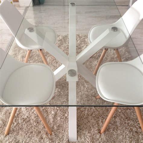 tavolo e sedie bianche tavolo in vetro da l 160x90 con sedie bianche 24