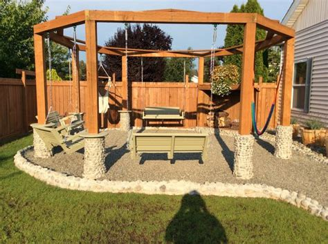 Swings Fire Pits Porch Swings And Fire Pits On Pinterest Firepit Swing