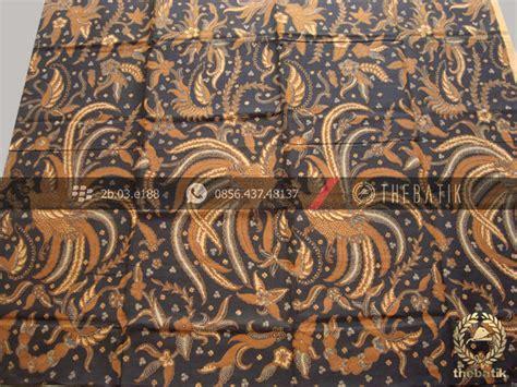 Kemeja Katun Batik Floral Hitam Pria Lengan Pendek Kerja Kantor jual kain batik klasik motif peksi latar hitam soga