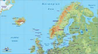 Iceland Map Europe by Map Of Northern Europe