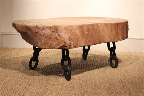 Cast Iron Coffee Table A Sculptural Wooden And Cast Iron Coffee Table 1950s Furniture