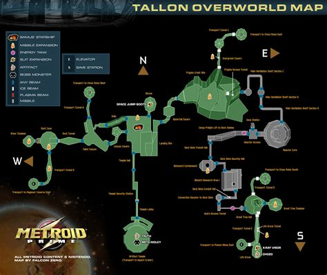 metroid map maps metroid prime metroid recon