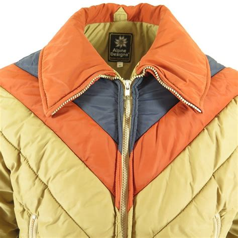 alpine design jacket vtg 80s alpine designs puffy puffer ski winter jacket mens