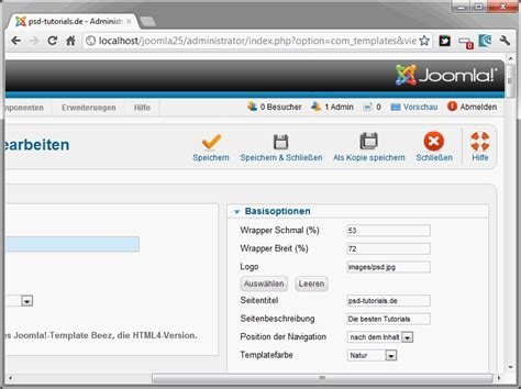 joomla template kopieren und ändern joomla 2 5 teil 27 template stile und parameter