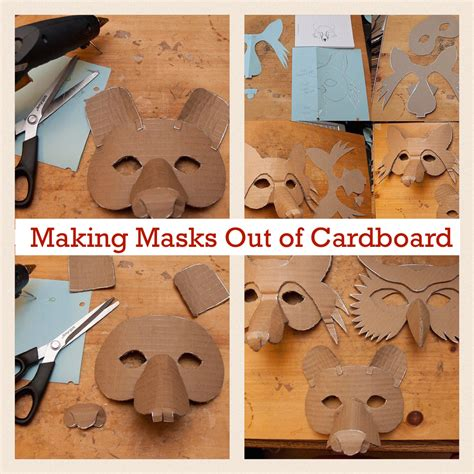 How To Make A Mask Out Of A Paper Plate - how to make an animal mask out of cardboard nuttin but