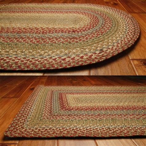 country jute braided area throw rugs oval rectangle 20x30