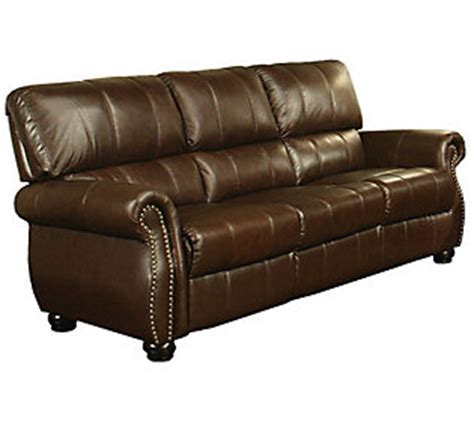 Lorenzo Leather Sofa Abbyson Living Lorenzo Italian Leather Sofa Qvc
