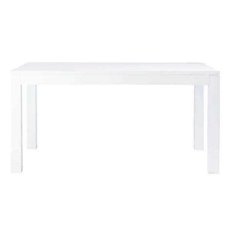 White Lacquer Table by Dining Table In White Lacquer W 160cm Maisons Du Monde