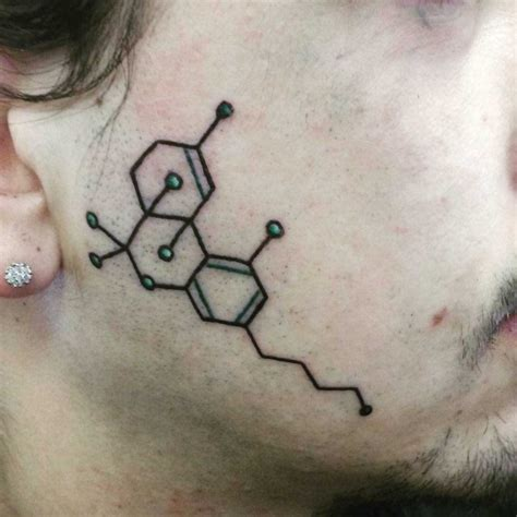 thc molecule tattoo thc molecular model best ideas gallery