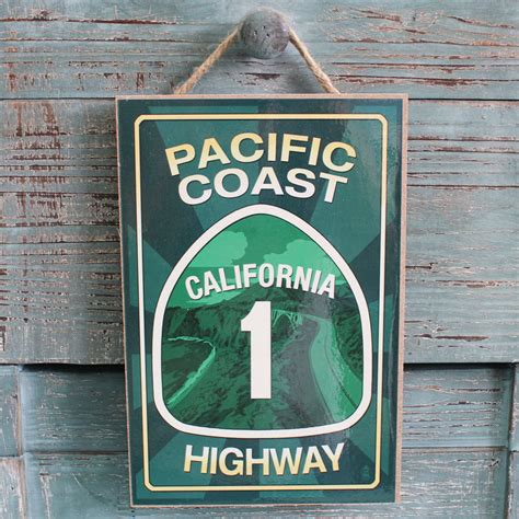 Pch Sign In - pacific coast highway california wood sign made in the