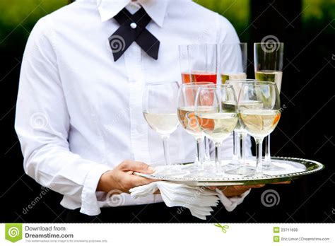 Serving At Your Wedding by Waiter Serving Drinks Wedding Series Stock Photo Image