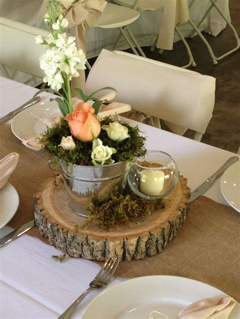 rustic table centerpieces rustic decor at smithview pavilion wedding