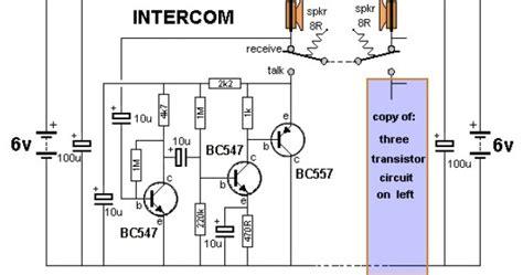 transistor vpq intercom circuit with transistors simple schematic collection