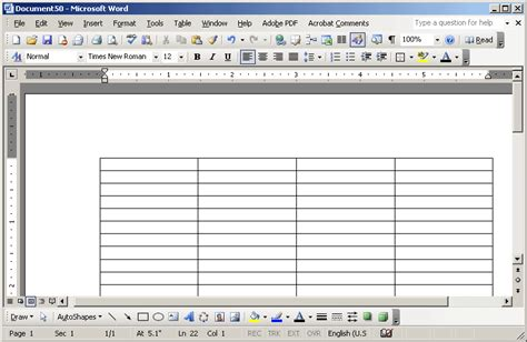 templates for wordpad blank table templates for wordpad myideasbedroom