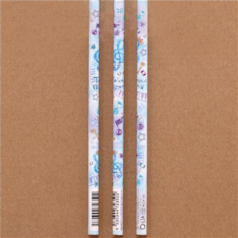 Musician Pencil Set 3 Pensil Musik Piano blue notes piano pencil from japan pens pencils stationery shop modes4u