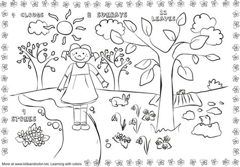 spring coloring pages in spanish free printable worksheets coloring spring 511878